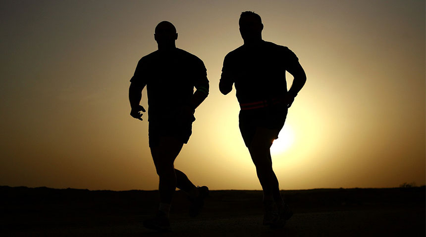 two man running - Running101: 6 Handy Tips to Get Started
